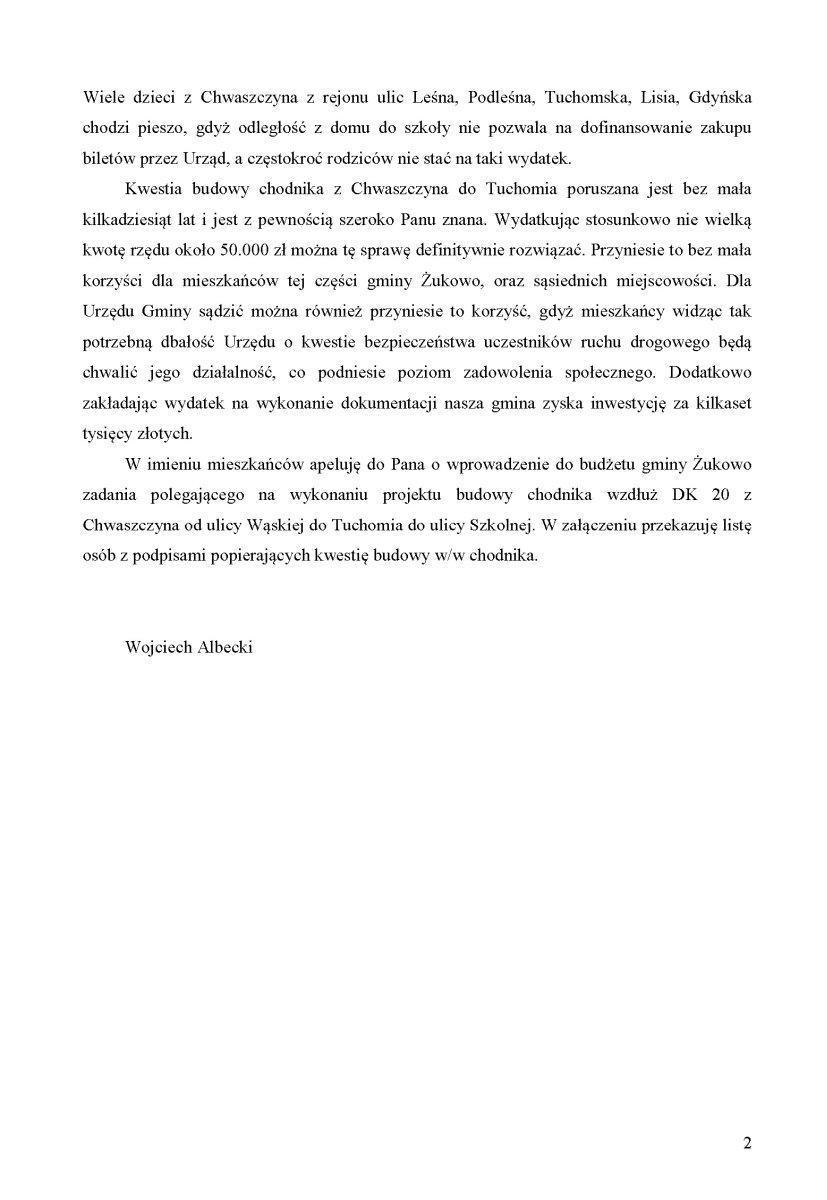 Petycja chodnik Chwaszczyno-Tuchom-2