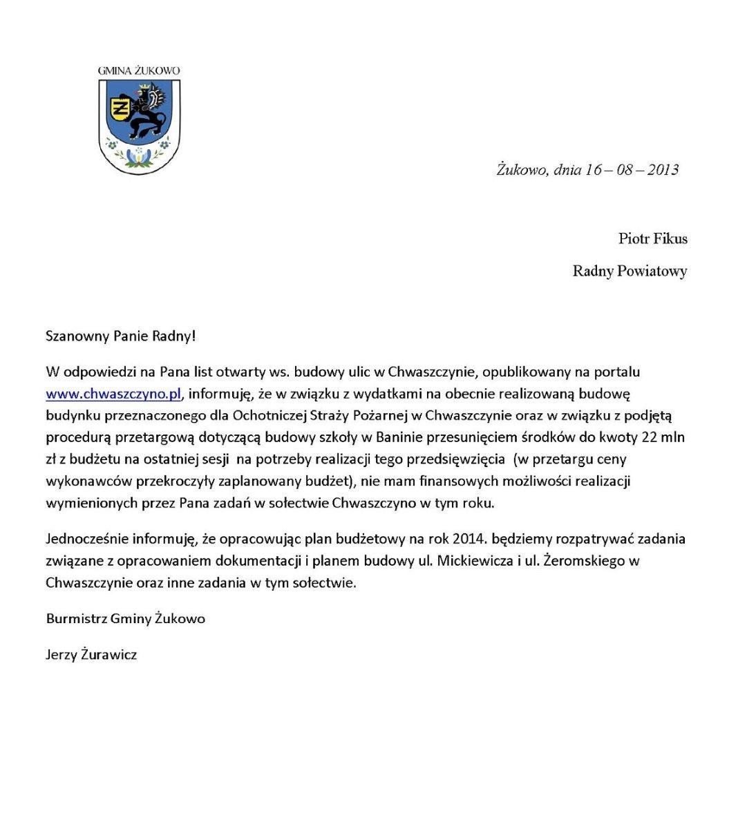 list-burmistrza-do-radnego-piotra-fikusa