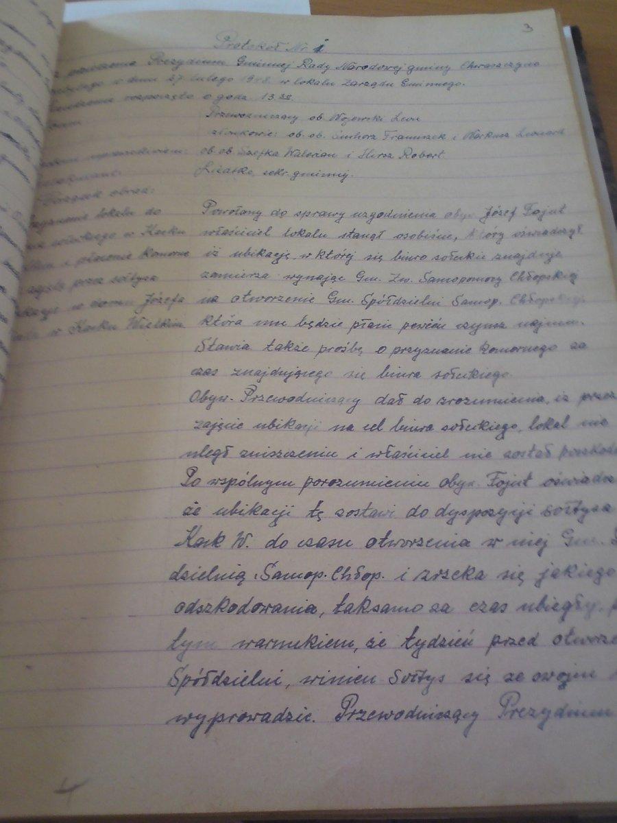 protokol-z-pierwszego-posiedzenia-gminy-chwaszczyno-1945r