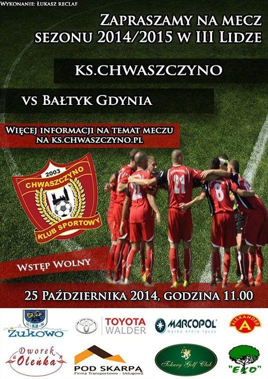 KS-Chwaszczyno-Baltyk gdynia-plakat