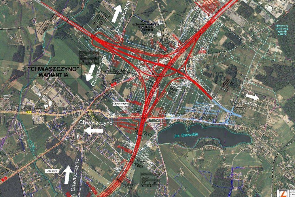 mapa omt wezel chwaszczyno