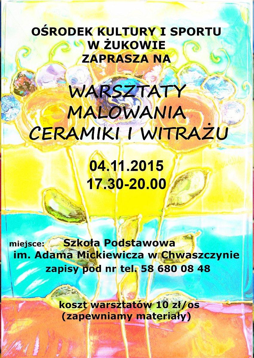 warsztaty artystyczne Chwaszczyno