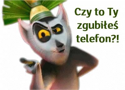 znaleziono telefon