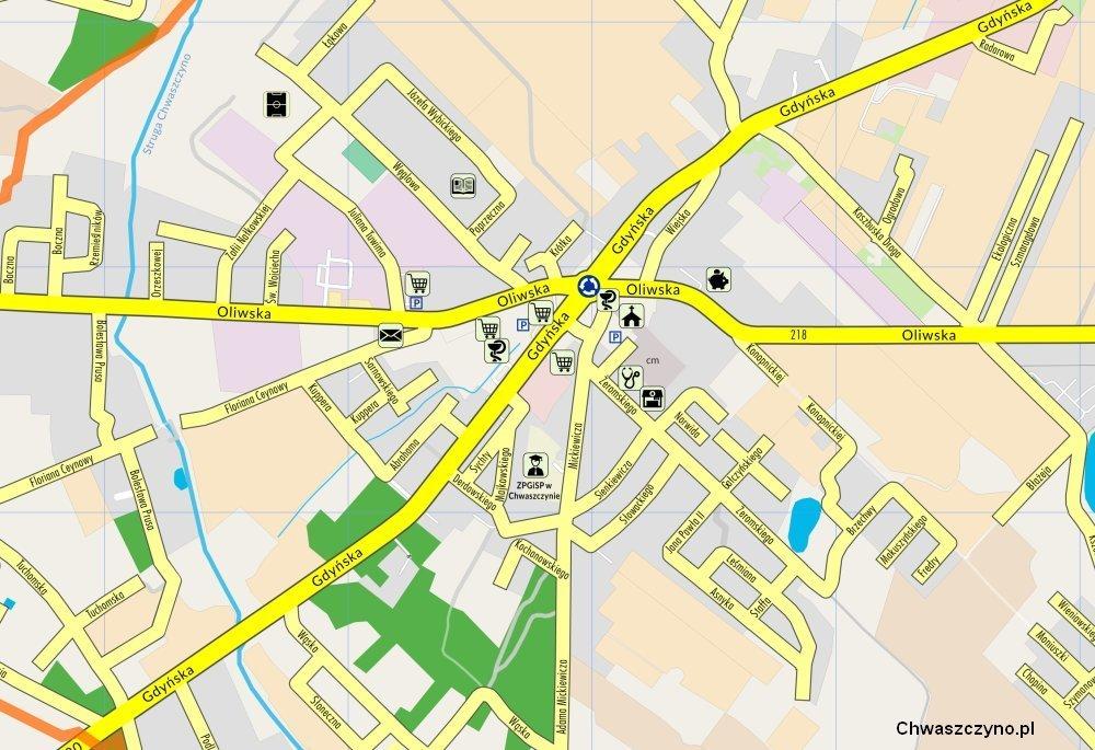 mapa chwaszczyna wycinek
