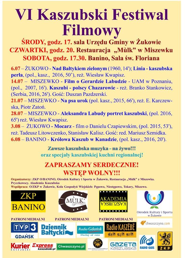 vi kaszubski festiwal filmowy plakat