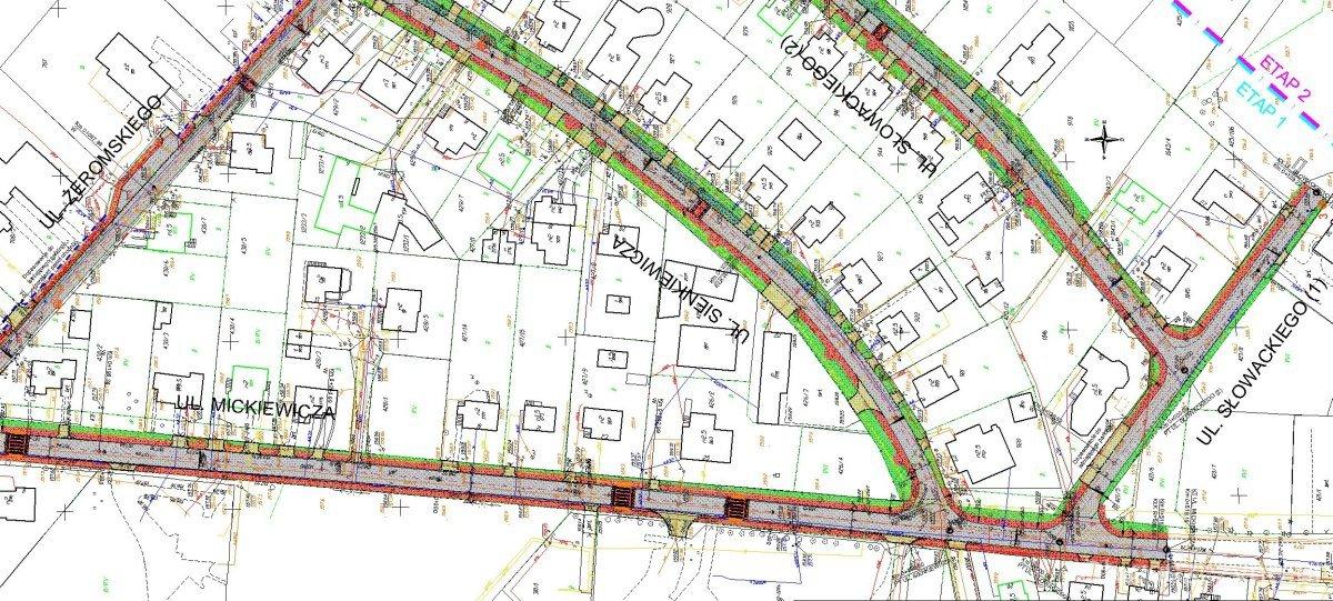 plan sytuacyjny koncepcji budowy ulic w chwaszczynie