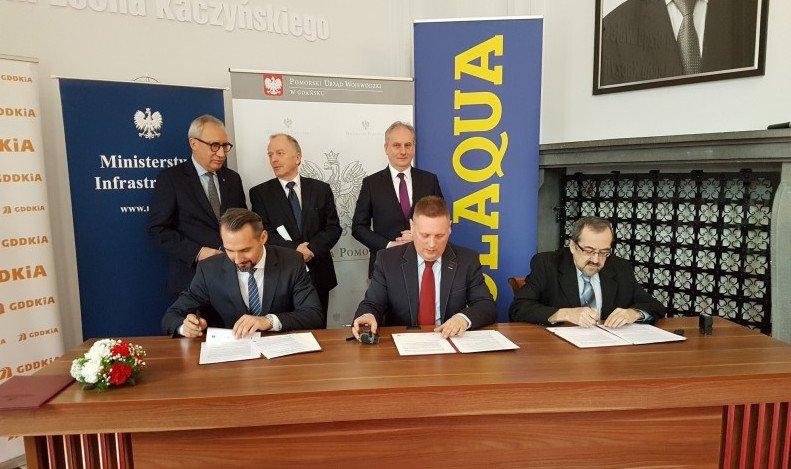 Podpisanie umowy na budowe fragmentu Trasy Kaszubskiej