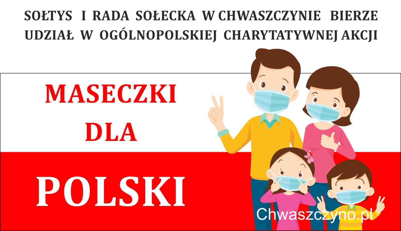"""""""MASECZKI DLA POLSKI"""" – akcja dostarczania bezpłatnych maseczek"""