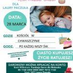 Darmowe maseczki dla mieszkańców oraz kiermasz dla Laury – niedziela 28 marca
